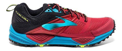 Mens Brooks Cascadia 12 Trail Running Shoe - High Risk Red/Black 7.5