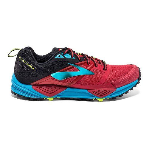 Mens Brooks Cascadia 12 Trail Running Shoe - Olive/Orange 10.5