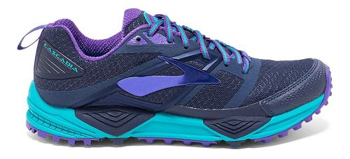 Womens Brooks Cascadia 12 Trail Running Shoe - Peacoat 9