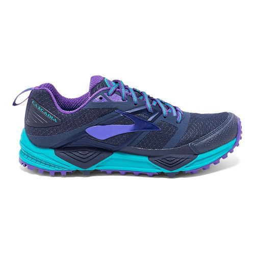 Womens Brooks Cascadia 12 Trail Running Shoe - Peacoat 11