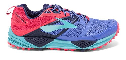 Womens Brooks Cascadia 12 Trail Running Shoe - Baja Blue/Paradise 8.5
