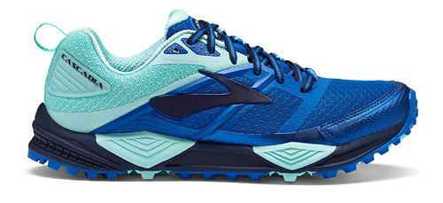 Womens Brooks Cascadia 12 Trail Running Shoe - Blue/Mint 6