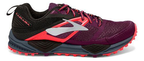 Womens Brooks Cascadia 12 Trail Running Shoe - Beet/Orange 5.5