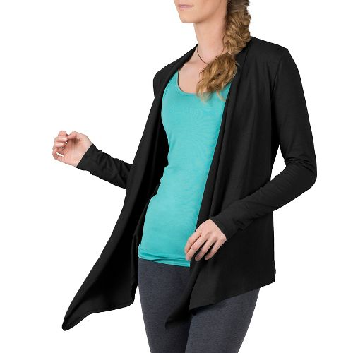 Womens Soybu Cora Wrap Long Sleeve Non-Technical Tops - Black L