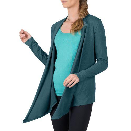 Womens Soybu Cora Wrap Long Sleeve Non-Technical Tops - Yukon XS
