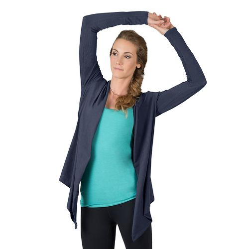 Womens Soybu Cora Wrap Long Sleeve Non-Technical Tops - Admiral M