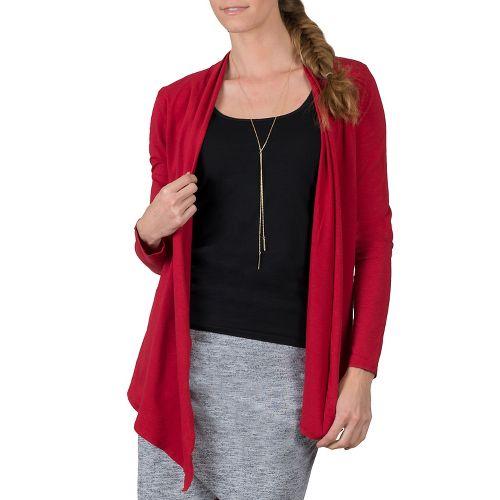Womens Soybu Cora Wrap Long Sleeve Non-Technical Tops - Syrah L