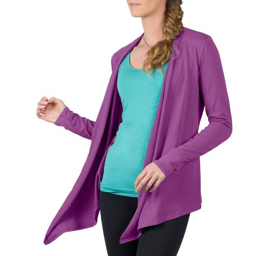 Womens Soybu Cora Wrap Long Sleeve Non-Technical Tops - Starboard S