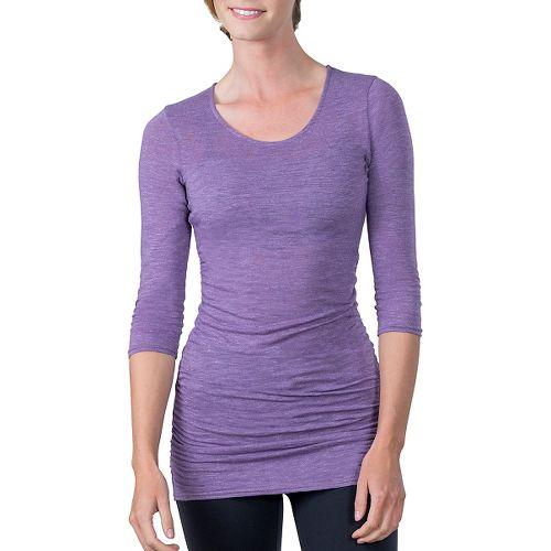Womens Soybu Lynn Tunic Long Sleeve Non-Technical Tops - Silver Plum M