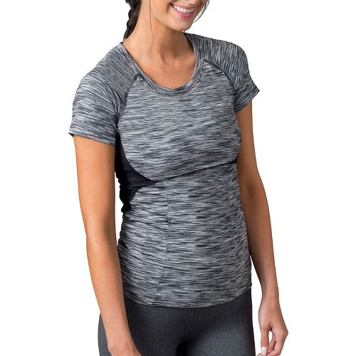 Womens Soybu Evelyn Tee Short Sleeve Technical Tops - Black XS