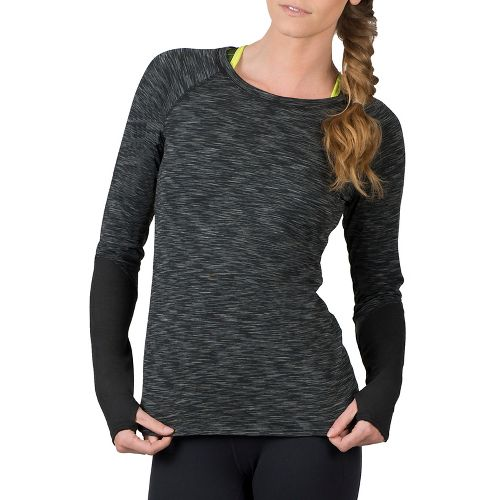 Womens Soybu Traverse Crew Long Sleeve Technical Tops - Black M