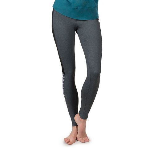 Womens Soybu Flex Core Tights & Leggings Pants - Black Wave XS