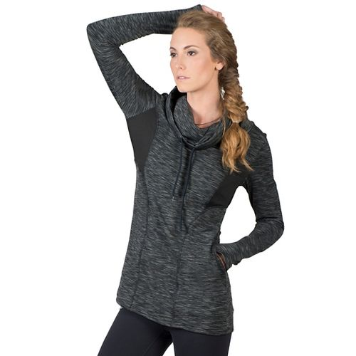 Womens Soybu Kinsley Tunic Hoodie & Sweatshirts Non-Technical Tops - Black XS