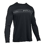 Mens Under Armour Run Icon Graphic Long Sleeve Technical Tops
