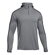 Mens Under Armour Scope Hooded 1/4 Zip Long Sleeve Technical Tops
