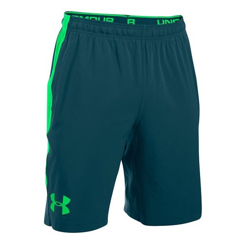 Mens Under Armour Scope Stretch Woven Unlined Shorts - Nova Teal/Green L