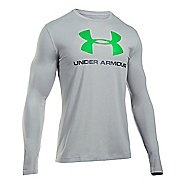 Mens Under Armour SportStyle Logo T Long Sleeve Technical Tops