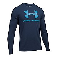 Mens Under Armour SportStyle Logo Tee Long Sleeve Technical Tops