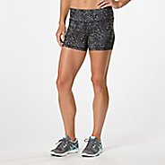"Womens Road Runner Sports Recharge Printed 3.5"" Compression & Fitted Shorts"