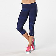 Womens Road Runner Sports Recharge Compression Printed Capri Tights