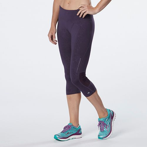 Womens R-Gear Recharge Compression Printed Capri Tights - Let's Jam Embossed M