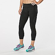 Womens Road Runner Sports Recharge Compression Printed Crop Capris Tights
