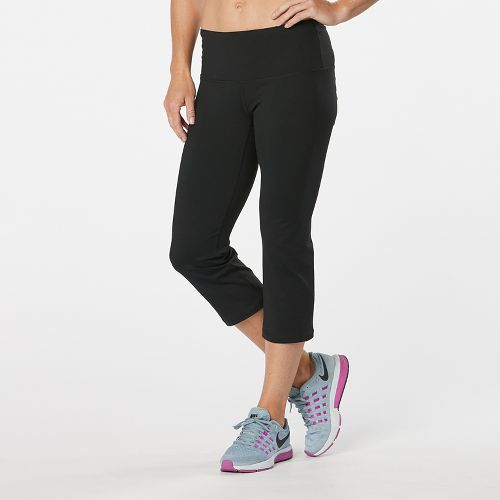 Womens Road Runner Sports Run, Walk, Play Capri 2 Pants - Black/Snake S