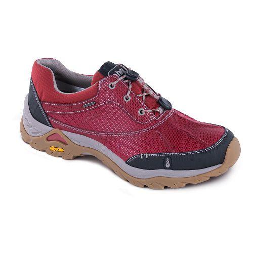 Womens Ahnu Calaveras WP Hiking Shoe - Garnet Red 10.5
