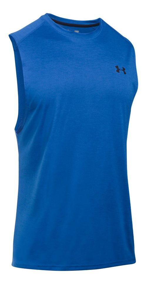 Mens Under Armour Tech Muscle Sleeveless & Tank Tops Technical Tops - Blue Marker XL ...