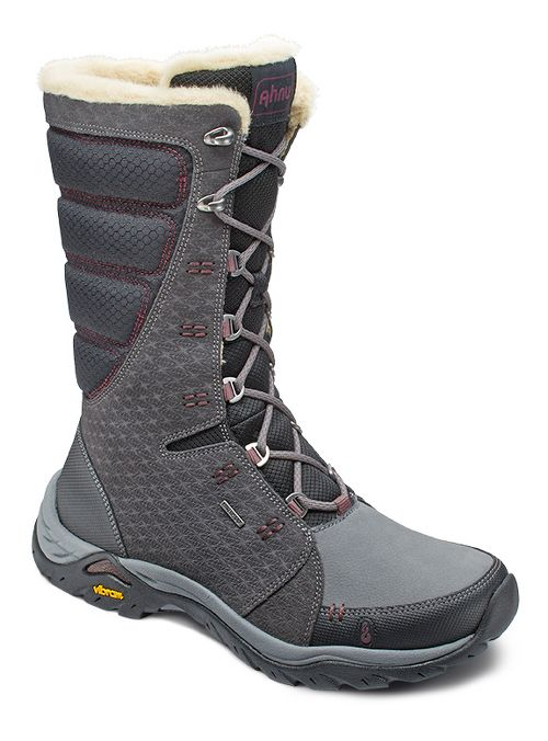 Womens Ahnu Northridge Star Suede Insulated WP Hiking Shoe - Granite 10