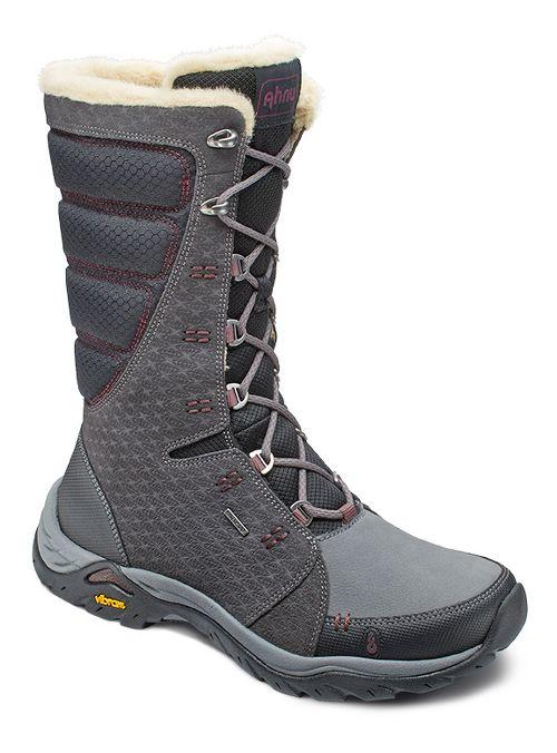 Womens Ahnu Northridge Star Suede Insulated WP Hiking Shoe - Granite 5