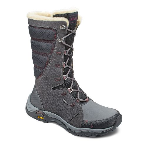 Womens Ahnu Northridge Star Suede Insulated WP Hiking Shoe - Granite 8