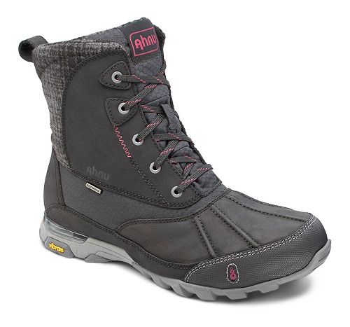 Womens Ahnu Sugar Peak Insulated WP Hiking Shoe - Black 5.5
