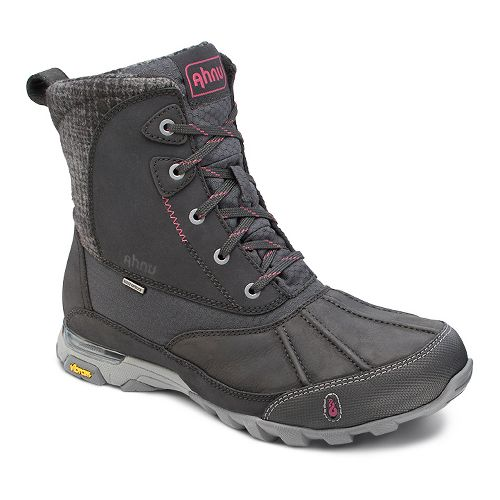 Womens Ahnu Sugar Peak Insulated WP Hiking Shoe - Black 5