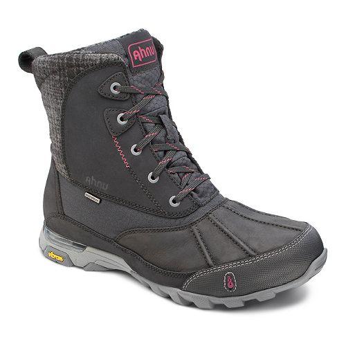 Womens Ahnu Sugar Peak Insulated WP Hiking Shoe - Black 6.5