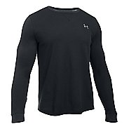 Mens Under Armour Waffle Crew Long Sleeve Technical Tops