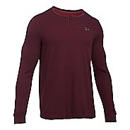 Mens Under Armour Waffle Henley Long Sleeve Technical Tops