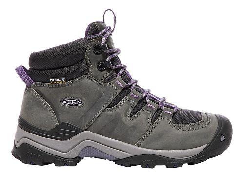 Womens Keen Gypsum II Mid WP Hiking Shoe - Grey/Purple 8.5