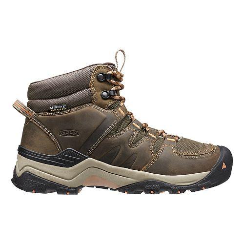 Womens Keen Gypsum II Mid WP Hiking Shoe - Navy/Opaline 10.5
