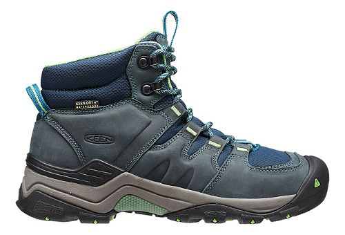 Womens Keen Gypsum II Mid WP Hiking Shoe - Navy/Opaline 8.5