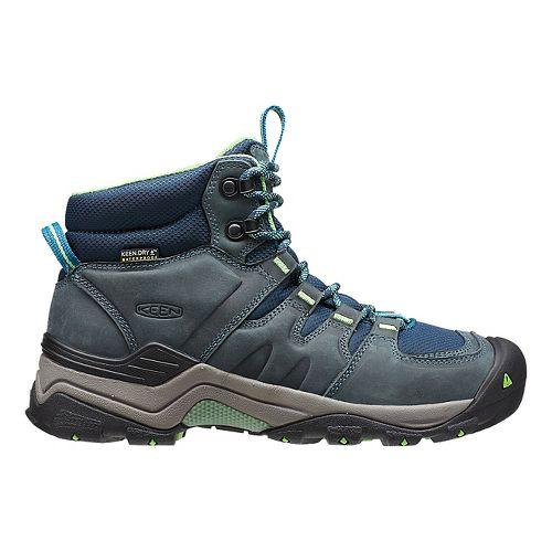 Womens Keen Gypsum II Mid WP Hiking Shoe - Navy/Opaline 7