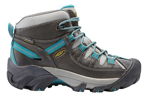 Womens Keen Targhee II Mid WP Hiking Shoe - Gargoyle/Teal 7.5