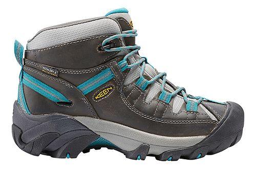 Womens Keen Targhee II Mid WP Hiking Shoe - Gargoyle/Teal 9