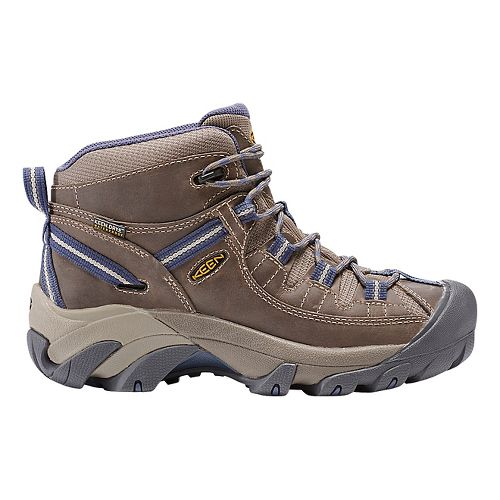 Womens Keen Targhee II Mid WP Hiking Shoe - Goat/Blue 6.5