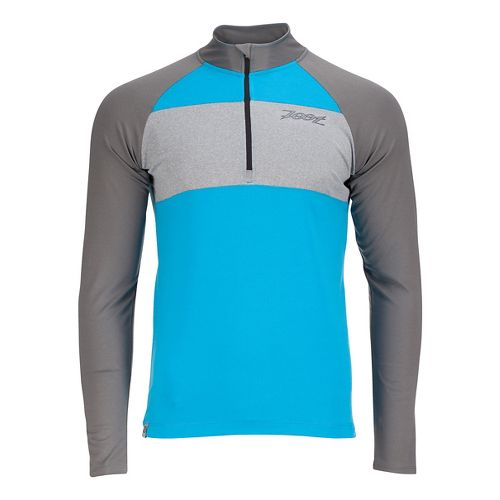 Mens Zoot Ocean Side 1/2 Zip Long Sleeve Technical Tops - Sky/Graphite M