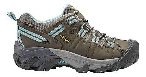 Womens Keen Targhee II WP Hiking Shoe - Olive/Blue 8.5