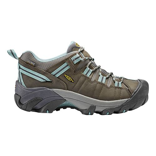 Womens Keen Targhee II WP Hiking Shoe - Olive/Blue 6.5