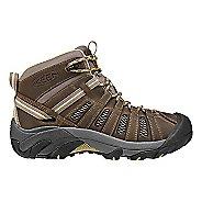 Womens Keen Voyageur Mid Hiking Shoe - Brindle/Custard 8