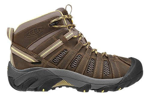 Womens Keen Voyageur Mid Hiking Shoe - Brindle/Custard 11