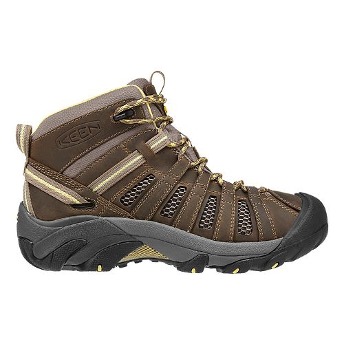 Womens Keen Voyageur Mid Hiking Shoe - Brindle/Custard 6